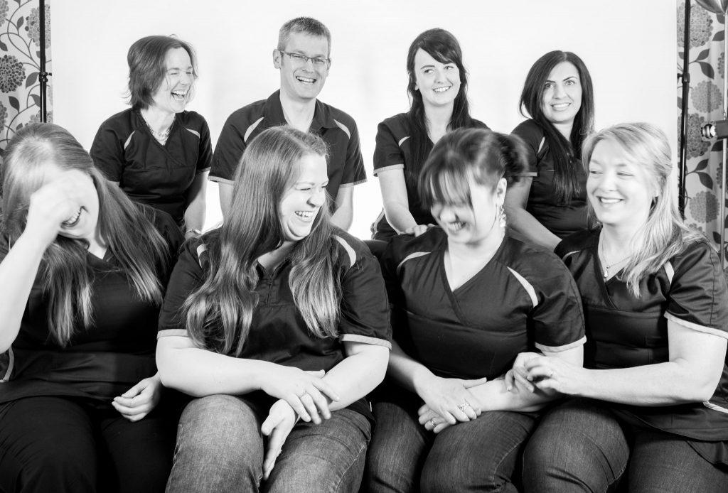 laughing team bw